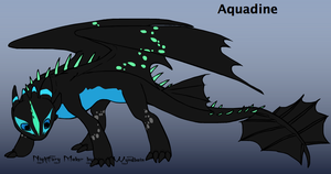 Aquadine (Water Dragoness) With Bio / Description by Volt-The-Nightfury