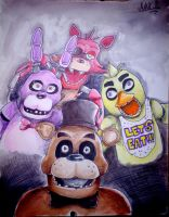 Five Nights at Freddy~ by megadaisy1