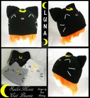 Sailor Moon Cat Beanie by YarnAlchemy