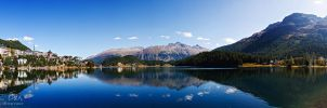 St Moritz lake by Nightline