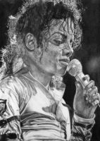 Michael Jackson Bad Tour Drawing by Chicoandpaco1