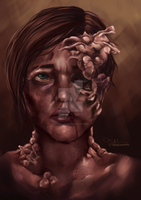 Ellie Infected- The Last of Us by zombie-foxie