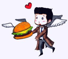 If you give an Angel a Cheeseburger... by shadow4everandaday