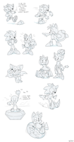 Sonic Sketch Dump by YellowHellion