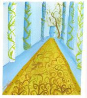 Gold rug and vines by lonesome-wolf-child