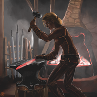 The Blacksmith by Crowsrock