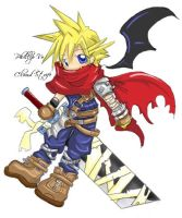2nd Attempt Cloud Strife KH by aTastyCookie