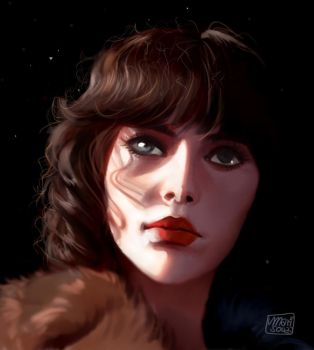 Under The Skin + Speedpaint by cosmogirll