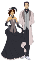 Galixnil and Ximraa - Christmas Style by hyperionwitch