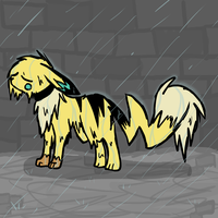 Jake is wet from the rain. by Void-Adoptables