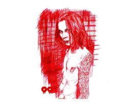 ville in red pen by Olive-Octopie