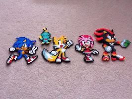 Sonic Perler Beads by TheBeadLord