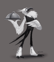 DAY 372. Vulture Butler by Cryptid-Creations