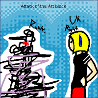 Attack of the art block by Laven