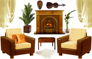 Interior decoration elements - PNG by lifeblue