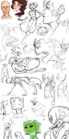 Sketch Dump - 10 by AccursedAsche