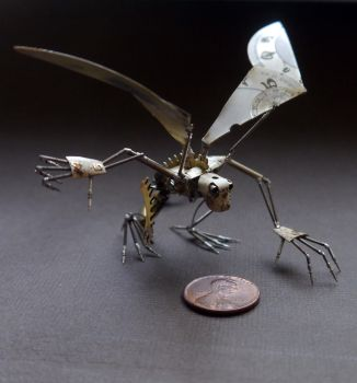 Iccy (Icarus inspired watch parts sculpture) by AMechanicalMind