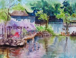 Chinese Garden by Little-Blue-Buggy