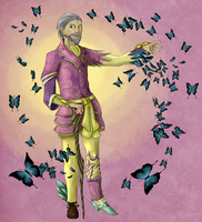 The Madgod and butterflies by Mauriko