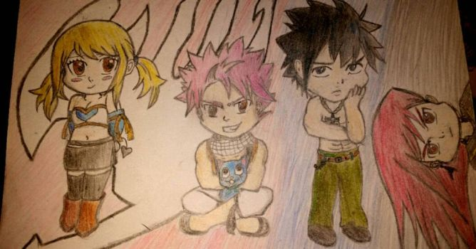 The Fairy Tail Chibi's by ThePurpleZone