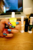 Olympic Nails by KelzJoannides