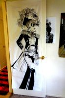 Ciel Phantomhive 7 ft tall painting by PidonKatachi