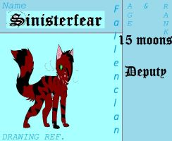 Sinisterfear Ref Sheet for FallenClan by Massacres-Depression
