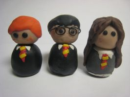 Harry Potter Fimo Dolls by BookWizard