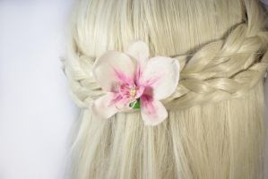Orchid Hair Clip/ Brooch by fion-fon-tier