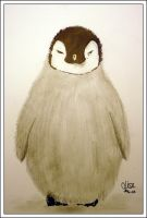 Emperor Penguin Chick by Bubo-Scandiacus
