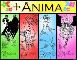 The Gang of +Anima by Peanuttyme