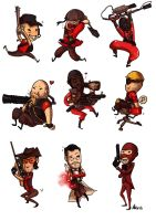 Scary TF2 charms by Monkanponk
