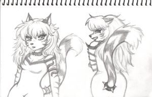Tigress Sketches 1 by GothicKitty3