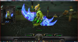 World of Warcraft Texture Mod Wifey Warglaives by hmoob-phaj-ej