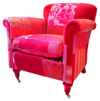Pink easy chair stock by DoloresMinette