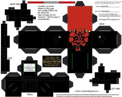 SW8: Darth Maul Cubee by TheFlyingDachshund
