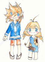 Little Brother and Sister by Chenille-Cerise