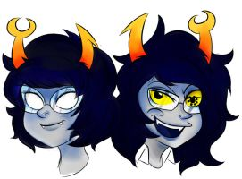 Homestuck: Aranea and Vriska by Stungun44