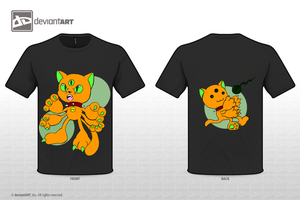Kitty Monster T-Shirt by NinjaHaku21