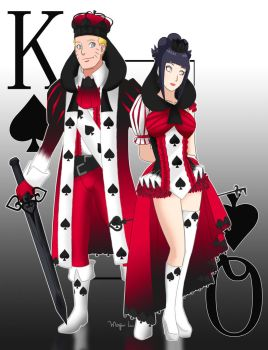 King and Queen of Spades by MajinLu