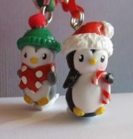 Polymer ClayChristmas Penguins by Lisas-Art-Endeavors