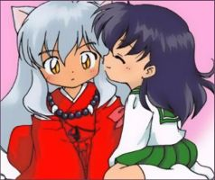 the two cuties Inuyasha,Kagome by cloe14