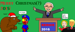 Christmas Art Pt. 2: Merry Christmas(?) 2015! by LUVKitty13