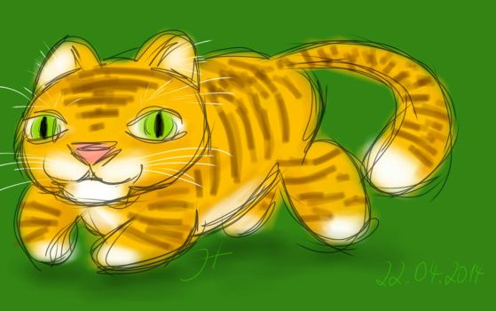 Squiggles: Chubby Tiger by janey-in-a-bottle