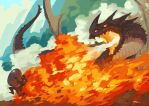 Dragonfire aka the egg chase by tohdraws
