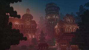 Voxelnauts:  Sunset Town by Oeasis