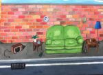 living room in the street by Clare205