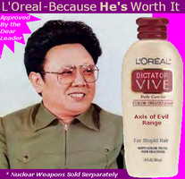 Kim Jong L'Oreal by Xyberius