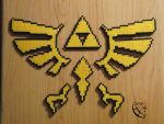 Hyrule Crescent Puzzle Perler Beads by Cimenord