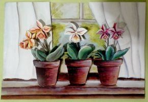 Orchid decoupage by bslirabsl
